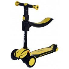Детский трехколесный самокат Maraton Flex Желтый