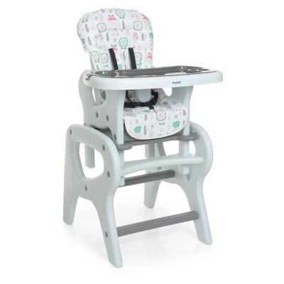 Детский стульчик для кормления M 0816 Flowers Grey
