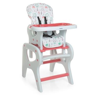 Детский стульчик для кормления M 0816 Flowers Pink