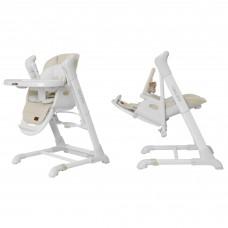 Детский стульчик-качели для кормления 3в1 CARRELLO Cascata CRL-10303 Cream Beige