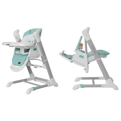 Детский стульчик-качели для кормления 3в1 CARRELLO Cascata CRL-10303 Azure Green