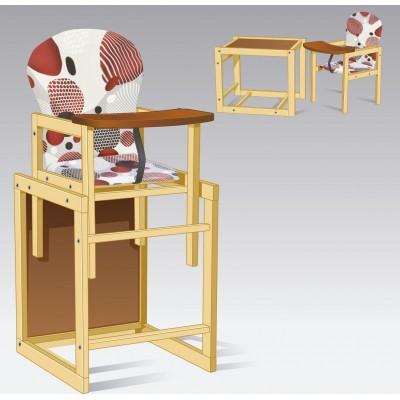 Стульчик для кормления трансформер деревянный Абстракция