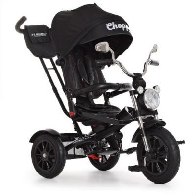 Детский трехколесный велосипед Turbo Trike Chopper M 4056-20-15 с поворотным сидением Черный