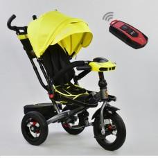 Детский трехколесный велосипед 6088 F - 1340 Best Trike поворотное сидение + пульт ЖЕЛТЫЙ