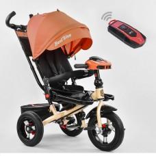 Детский трехколесный велосипед 6088 F - 2230 Best Trike поворотное сидение + пульт ОРАНЖЕВЫЙ