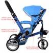 Детский трехколесный велосипед Turbo Trike M AL3645-12 EVA складной СИНИЙ
