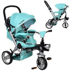 Детский трехколесный велосипед Turbo Trike M AL3645-14 EVA складной БИРЮЗОВЫЙ