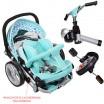 Детский трехколесный велосипед Turbo Trike M AL3645A-14 Air складной БИРЮЗОВЫЙ (надувные колеса)