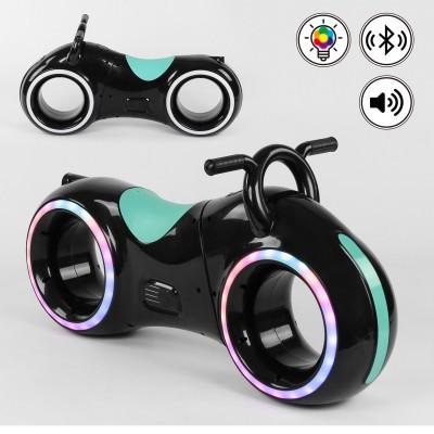 Беговел толокар Cosmo-байк с Bluetooth и LED-подсветкой Черно-бирюзовый