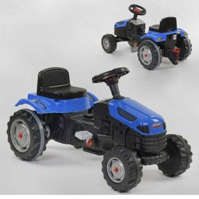 Педальный трактор 07-314 СИНИЙ