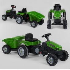 Педальный трактор 07-316 ЗЕЛЕНЫЙ с прицепом