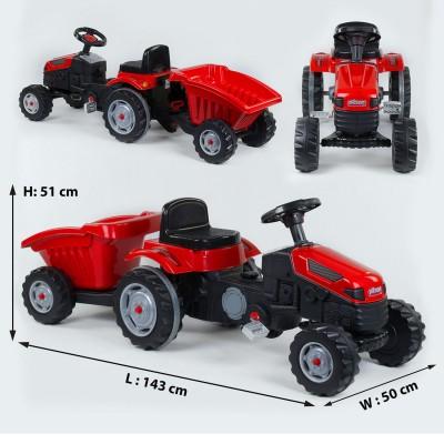 Педальный трактор 07-316 КРАСНЫЙ с прицепом