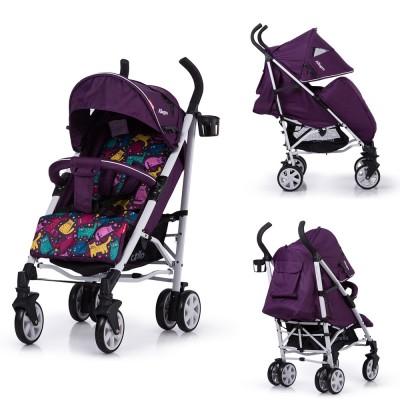 Детская коляска прогулочная CARRELLO Allegro CRL-10101/1 Kitty Purple в льне
