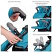 Детская прогулочная коляска-трость ME 1013L RUSH Turquoise