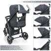 Детская прогулочная коляска ME 1023L FOCUS Graphite