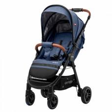 Детская прогулочная коляска CARRELLO Eclipse CRL-12001 Denim Blue в льне + дождевик