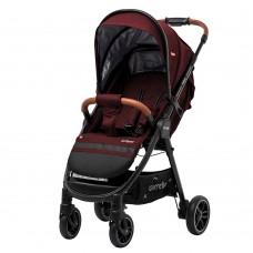Детская прогулочная коляска CARRELLO Eclipse CRL-12001 Berry Red в льне + дождевик