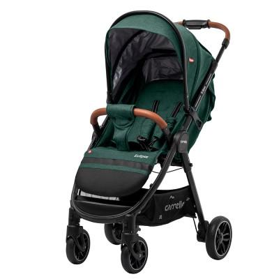 Детская прогулочная коляска CARRELLO Eclipse CRL-12001 Grass Green в льне + дождевик