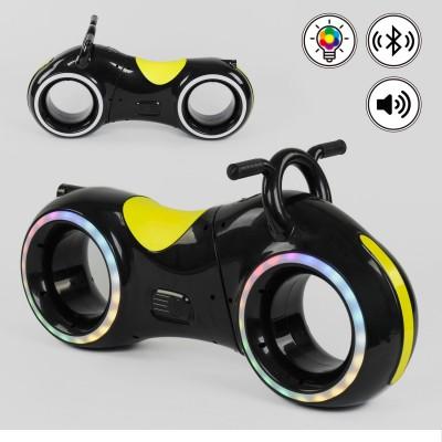 Беговел толокар Cosmo-байк с Bluetooth и LED-подсветкой Черно-желтый