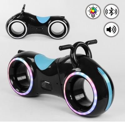 Беговел толокар Cosmo-байк с Bluetooth и LED-подсветкой Черно-синий