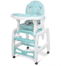 Детский стульчик для кормления трансформер на колесиках M 1563-12-1