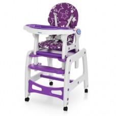Детский стульчик для кормления трансформер на колесиках M 1563-9