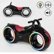 Беговел толокар Cosmo-байк с Bluetooth и LED-подсветкой Красно-черный