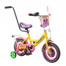 Детский двухколесный велосипед с ручкой Tilly Monstro Т-212210 12 дюймов