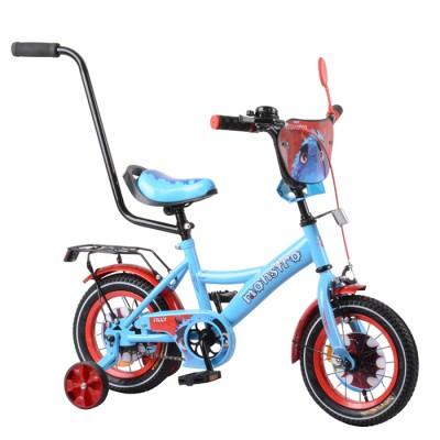 Детский двухколесный велосипед с ручкой Tilly Monstro Т-21228 12 дюймов