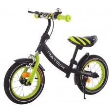 Детский беговел с ручным тормозом BALANCE TILLY Matrix T-21259 Green 12 дюймов
