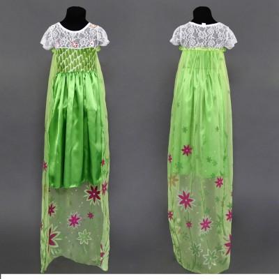 Карнавальный костюм платье Королева Эльза (зеленый)