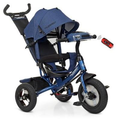 Детский трехколесный велосипед Turbo Trike M 3115HA-11L СИНИЙ ЛЁН с USB