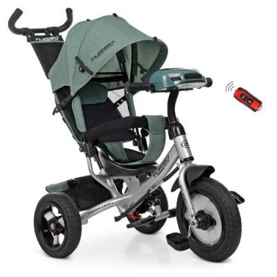 Детский трехколесный велосипед Turbo Trike M 3115HA-17L ХАКИ ЛЁН с USB