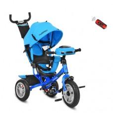 Детский трехколесный велосипед с фарой M 3115-5HA ГОЛУБОЙ