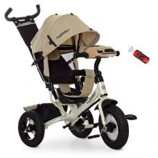 Детский трехколесный велосипед Turbo Trike M 3115HA-7L БЕЖЕВЫЙ ЛЁН с USB