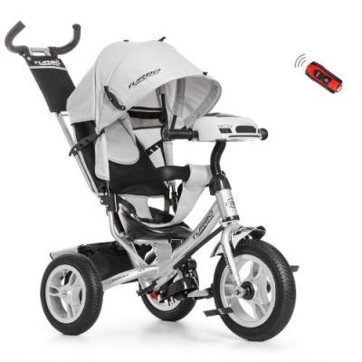 Детский трехколесный велосипед Turbo Trike M 3115HA-19 СЕРЫЙ