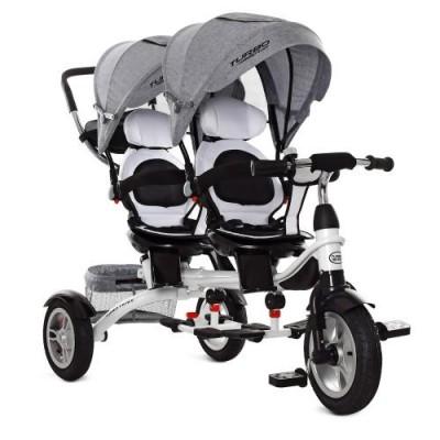 Детский трехколесный велосипед для двойни Turbo Trike M 3116 Duos