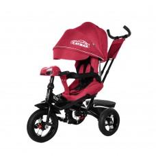 Детский трехколесный велосипед TILLY CAYMAN T-381/2 с пультом и USB Красный лён