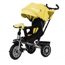 Детский трехколесный велосипед TILLY CAYMAN T-381/3 с пультом Желтый