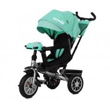 Детский трехколесный велосипед TILLY CAYMAN T-381/3 с пультом Бирюзовый