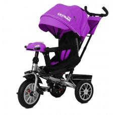 Детский трехколесный велосипед TILLY CAYMAN T-381/3 с пультом Фиолетовый