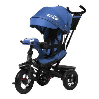 Детский трехколесный велосипед TILLY CAYMAN T-381/2 с пультом и USB Синий лён