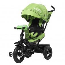 Детский трехколесный велосипед TILLY CAYMAN T-381 Зеленый поворотное сидение