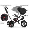 Детский трехколесный велосипед Turbo Trike Chopper M 4056HA-20-6 с поворотным сидением Черный с синими ремнями