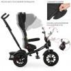 Детский трехколесный велосипед M 4056HA-20 с поворотным сидением Черный с салатовыми ремнями