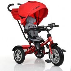 Детский трехколесный велосипед Turbo Trike M 4057-1 с поворотным сидением КРАСНЫЙ