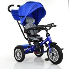 Детский трехколесный велосипед Turbo Trike M 4057-10 с поворотным сидением СИНИЙ
