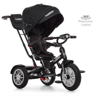 Детский трехколесный велосипед Turbo Trike M 4057-20 с поворотным сидением ЧЕРНЫЙ