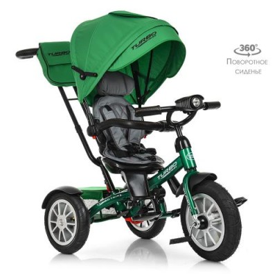 Детский трехколесный велосипед Turbo Trike M 4057-4 с поворотным сидением ЗЕЛЕНЫЙ