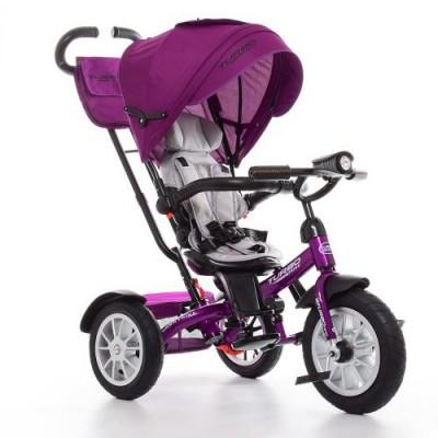 Детский трехколесный велосипед Turbo Trike M 4057-8 с поворотным сидением ФИОЛЕТОВЫЙ